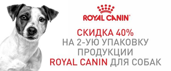 Скидка на вторую упаковку Royal Canin 40%!
