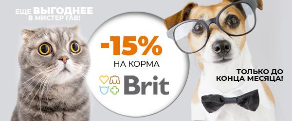 -15% на корма Brit Care!
