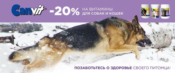 -20% на витамины Canvit!