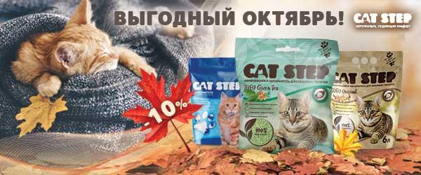 Скидка 10% на наполнители Cat Step!
