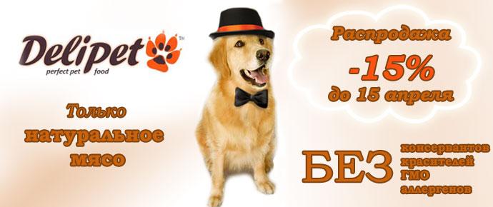 Распродажа лакомств для собак и кошек Delipet