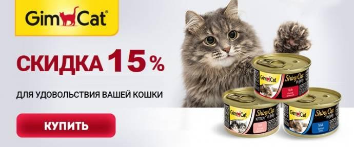Скидка 15% на лакомства и витамины GimCat!