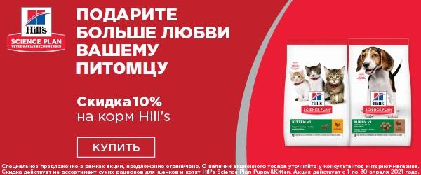 -10% на корм Hill's для собак и кошек