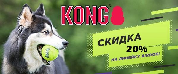 Скидка 20% на игрушки Kong Air!