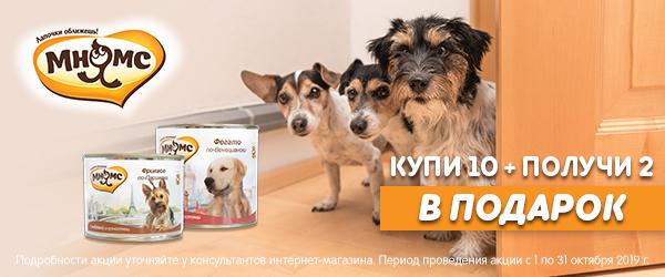 Консервы Мнямс для собак 10+2