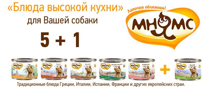 Консервы Мнямс 5+1