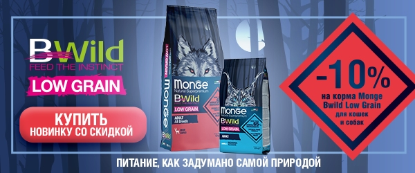 Monge BWild Low Grain со скидкой 10%!