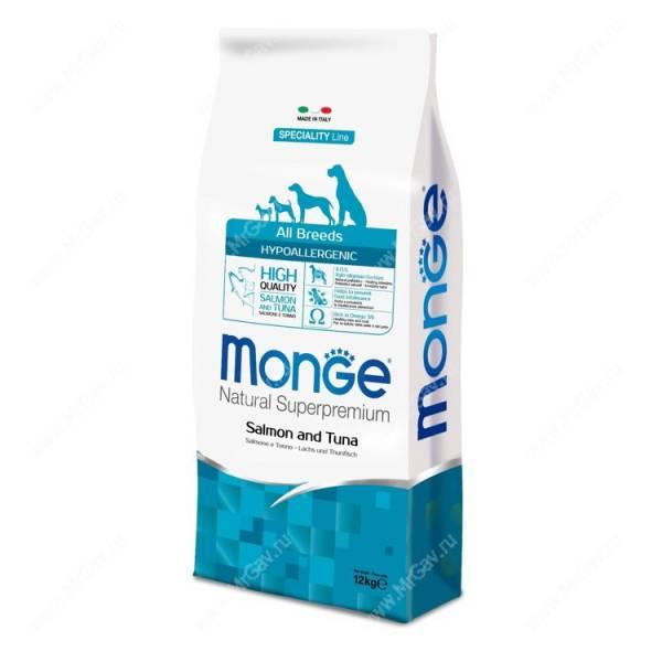 Monge корм для собак гипоаллергенный