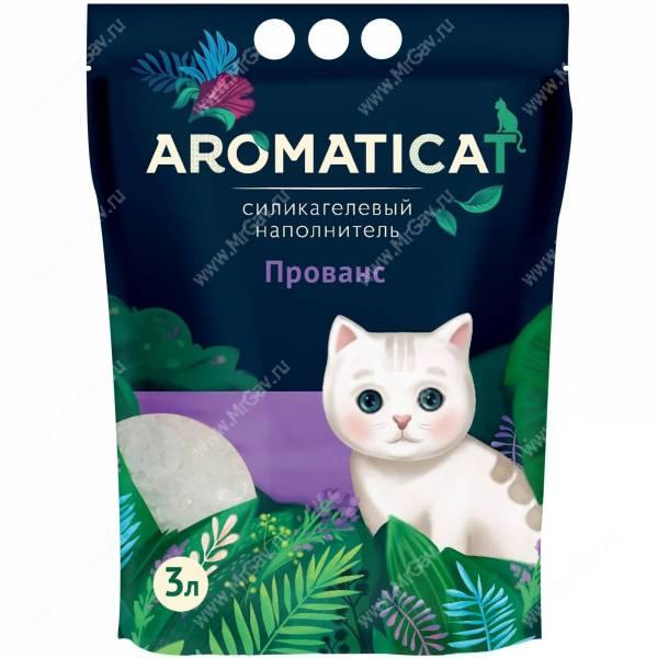 Наполнитель силикагелевый AromatiCat Прованс - Интернет-зоомагазин Мистер Гав