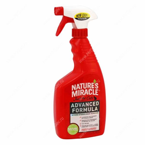 ������������ ������� � ����� � ��������� �������� ��� ����� 8in1 Nature's Miracle Trigger Sprayer, 709 ��
