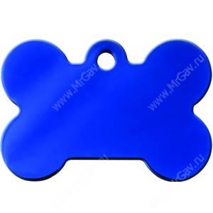 Адресник Petscribe Косточка большая, синяя