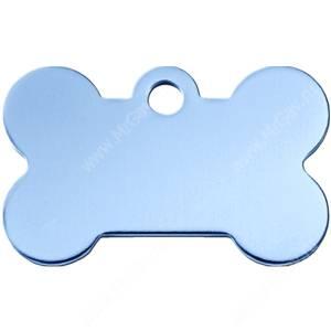 Адресник Petscribe Косточка малая, голубая