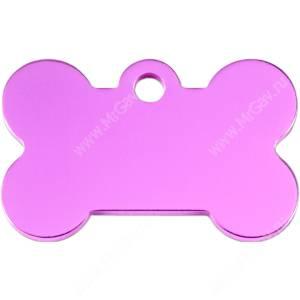 Адресник Petscribe Косточка малая, розовая