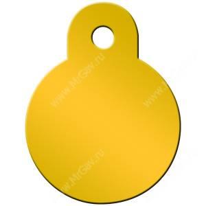 Адресник Petscribe Круг малый, желтый