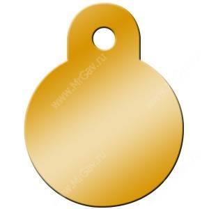 Адресник Petscribe Круг малый, золотой