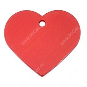 Адресник Petscribe Сердце большое, красное