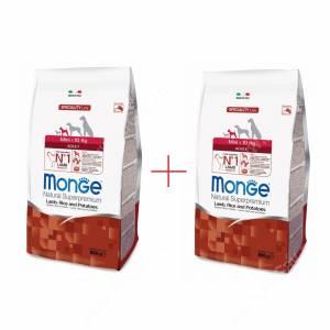 Акция 1+1 Monge Dog Speciality Mini Adult (Ягненок с рисом и картофелем), 0,8 кг