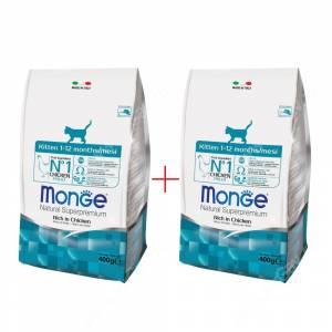 Акция 1+1 Monge Kitten, 0,4 кг
