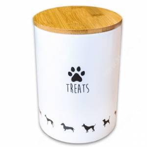 Банка керамическая для хранения лакомств для собак КерамикАрт, 1,3 л
