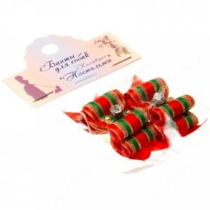 Бантик двойной объемный 5*2 см, рождественский