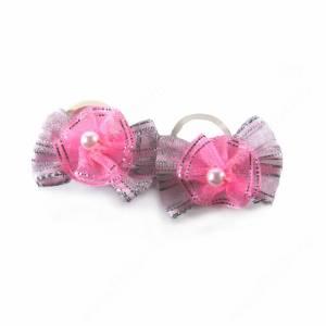 Бантики розовые с жемчугом