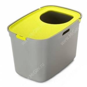 Био-туалет Moderna Top Cat, 59 см*39 см*38 см, серо-лимонный