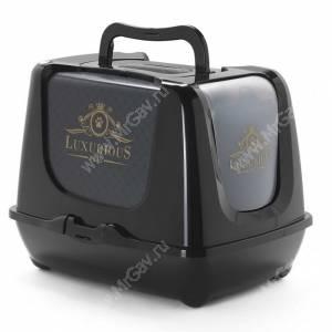 Био-туалет с совком Moderna Luxurious, 50 см*39 см*37 см, черный