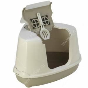 Био-туалет угловой с совком Moderna  Flip Corner, 55 см*45 см*38 см, серый