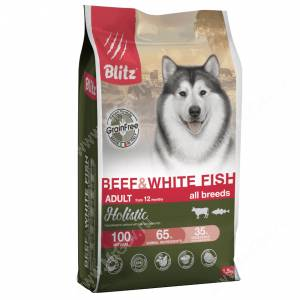 Blitz Grain Free Adult Beef&White Fish