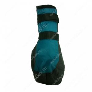 Ботинки утепленные для собак OSSO, 2, черно-бирюзовые