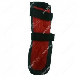 Ботинки утепленные для собак OSSO, 3, черно-красные