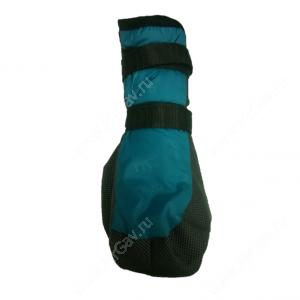 Ботинки утепленные для собак OSSO, 4, черно-бирюзовые