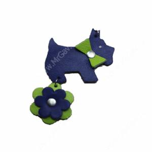 Брелок Collar Glamour собачка, фиолетовый