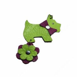 Брелок Collar Glamour собачка, зеленый