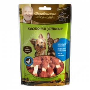 Деревенские Лакомства косточки утиные для собаки мини-пород, 60г