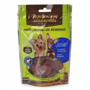 Деревенские лакомства медальоны из ягненка для собак мелких пород, 60 г
