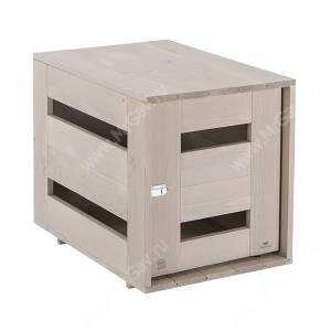 Домик деревянный для собак Ferplast Dog Home M, серый