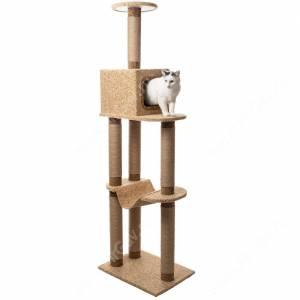 Домик-когтеточка для кошек Уют