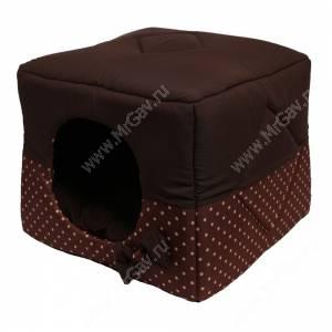Домик Кубик-трансформер, S, 40 см*40 см*40 см, коричневый