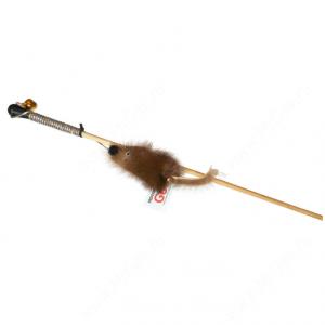 Дразнилка GoSi Мышь с меховым хвостом