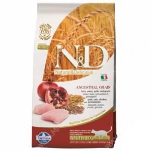 Farmina N&D Ancestral Grain Chicken&Pomegranate Cat Neutered