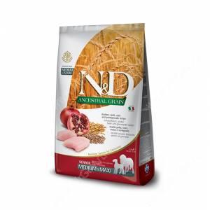 Farmina N&D Low Grain Chicken&Pomegranate Dog Senior Medium&Maxi