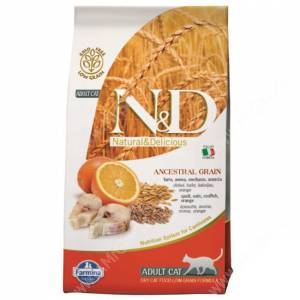 Farmina N&D Low Grain Codfish&Orange Adult Cat