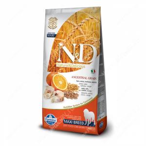 Farmina N&D Low Grain Codfish&Orange Adult Dog Maxi