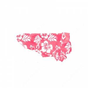 Гавайская рубашка, розовая, 25 см
