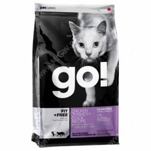 GO! Fit + Free Grain Free Cat Recipe (Chicken, turkey, duck, salmon)
