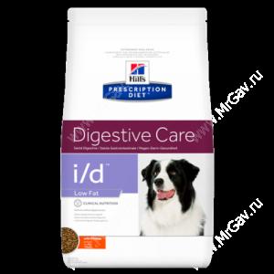 Hill's Prescription Diet i/d Low Fat Digestive Care сухой корм для собак с курицей