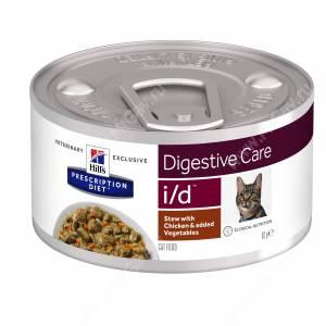 Hill's Prescription Diet i/d Рагу с курицей и добавлением овощей для кошек, 82 г
