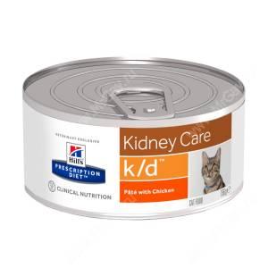 Hill's Prescription Diet k/d Kidney Care влажный корм для кошек с курицей, 156 г