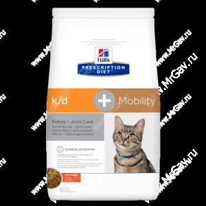 Hill's Prescription Diet k/d + Mobility Kidney + Joint Care сухой корм для кошек с курицей